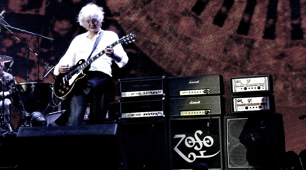 Amplificadores do Jimmy Page no show na O2 Arena