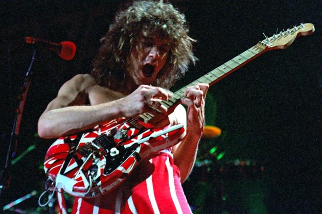 Eddie-Van-Halen pura técnica e distorção
