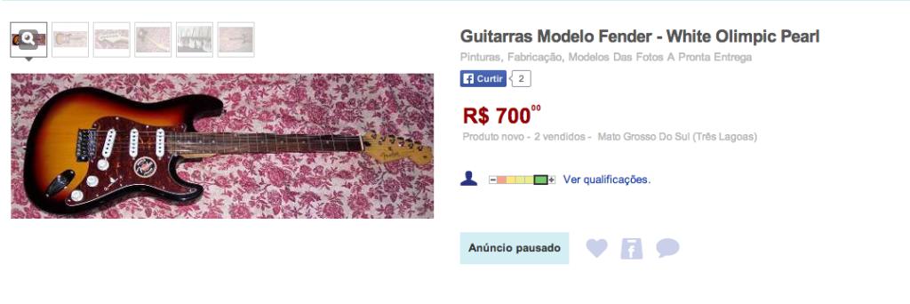 Fender Falsificada mercado livre